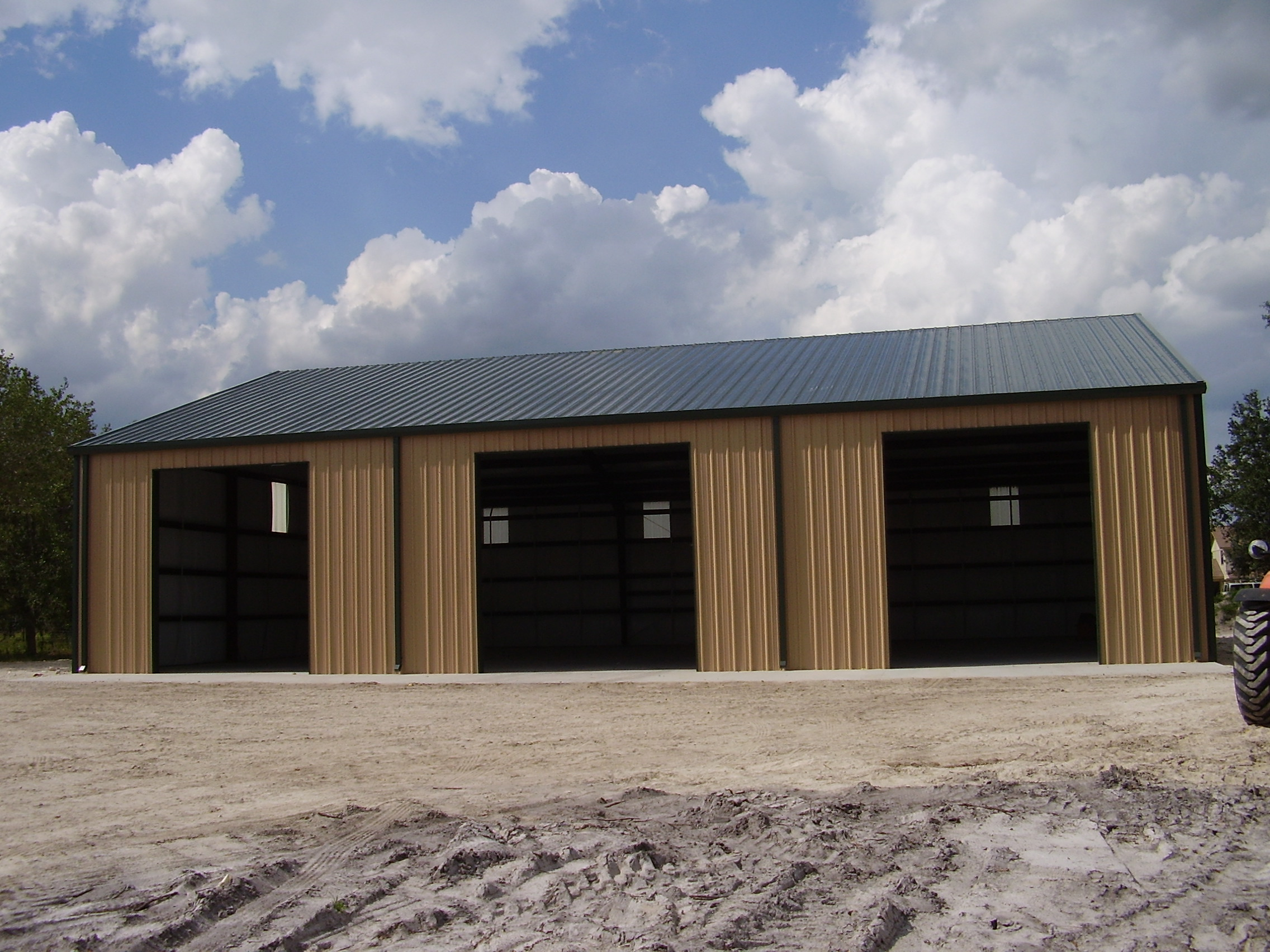 Commercial metal buildings barn with living quarters plans for Commercial garage plans